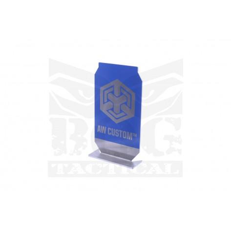 Black Owl Gear™ Practical Shooting Popper Target Plate - AW Custom™ (Blue)