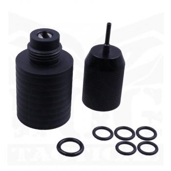 Black Owl Gear™  Portable Co2 Charger Kit - Black (88g ver)